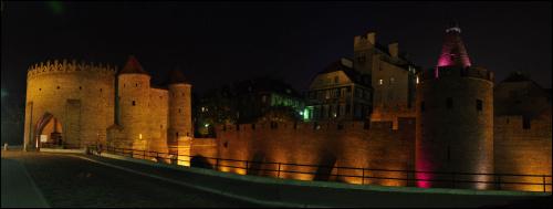 Barbakan #panorama #noc #NocneZdjęcia #warszawa #barbakan #StareMiasto