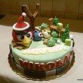 Torcik urodzinowy #AngryBirds #gra #PtakiZima #mikołaj #TortyOkazjonalne #urodziny