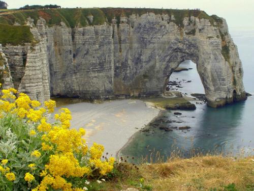 Normandia 2010, klify w Etretat