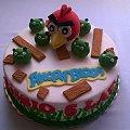 Tort z Angry Birts #AngryBirts #gra #świnki #TortyOkazjonalne #tort