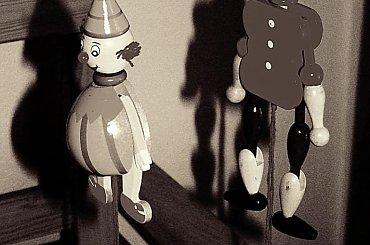 Pajace #zabawki #Olsztynek #skansen