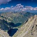 Morskie Oko i Czarny Staw - widok z Rys... #krajobraz #góry #Tatry #panorama #arietiss