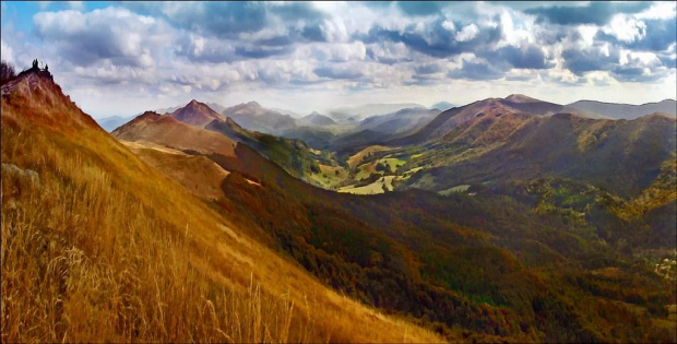 pomalować Bieszczady.... olej połączony z akwarelą #jesien #góry #bieszczady