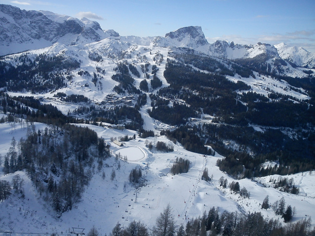 Góra krzesła FIS - panorama #Alpy #Austria #Narty #Nassfeld