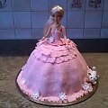 Tort dla dziewczynki różowy z kotkiem #TortLalka #TortyDlaDziewczynek #lala #TortyOklicznościowe #torty #LalaZKotkiem