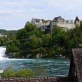 Rheinfall wodospad i górujący nad nim zamek Laufen #przyroda