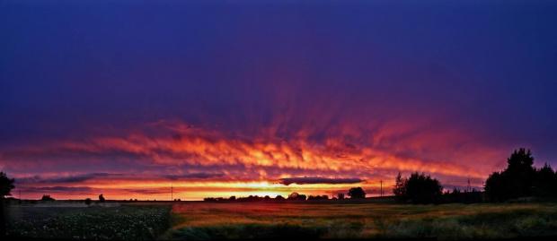 zachód słońca #ZachódSłońca #pola