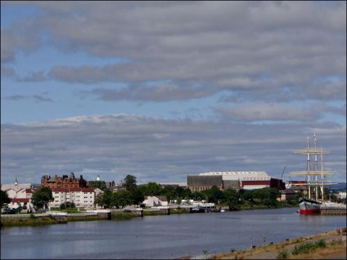 Widok na rzekę Clyde..