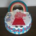 Świnka PEPE #świnka #pepe #tprty #okazjonalne #torty #świnka na #torcie #świnka #tęcza