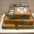 Tort weselny w formie paczek pocztowych #tort #weselny #tort #okolicznosciowy #paczka #pocztowa #tort #weselny #poczta #nakleiki #pocztowe